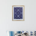 Stratton Home Decor Framed Blue Motif Wall Art with Glass