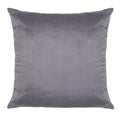 Stratton Home Decor Dark Grey Textured Velvet 18 inch Square Pillow