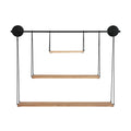 Stratton Home Decor 3 Tier Metal and Wood Wall Shelf