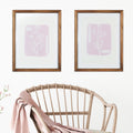 Stratton Home Decor Framed Pink Flower Wall Art with Glass