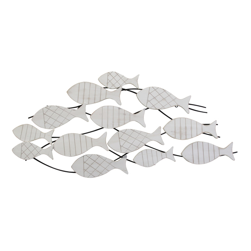 Stratton Home Decor Fish in Motion Wall Sculpture