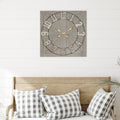 Stratton Home Decor Aaron Distressed Wood and Metal Wall Clock