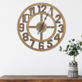 Stratton Home Decor 23 Inch Jen Wood Wall Clock