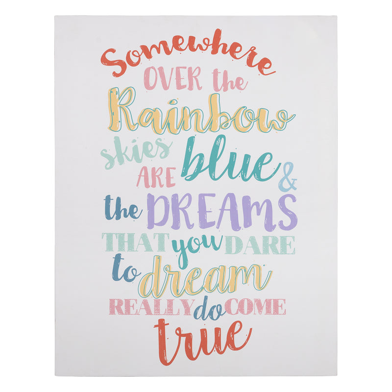 Stratton Home Decor Somewhere Over the Rainbow Wall Art