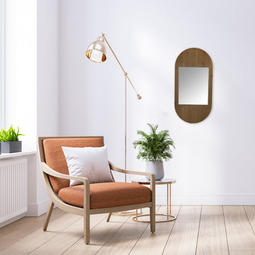 Stratton Home Decor Luna Wood Oval Wall Mirror