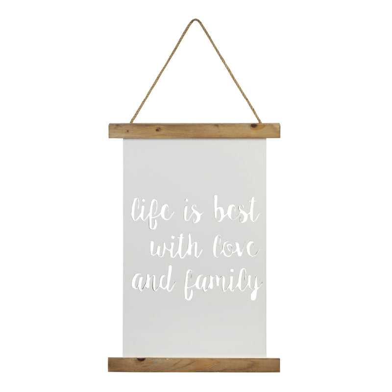 Stratton Home Decor Life is Best with Love and Family Wall Art