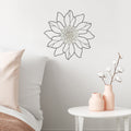 Stratton Home Decor White Metal Outline Flower Wall Decor