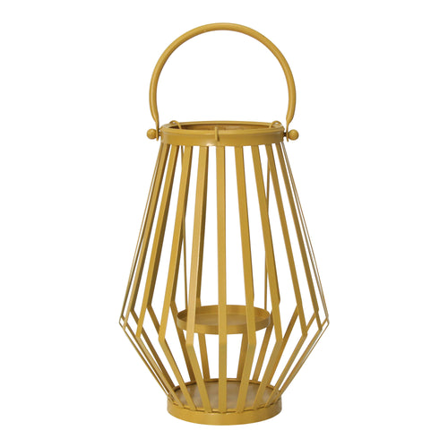 Stratton Home Decor Yellow Metal Lantern