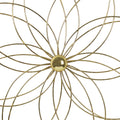 Stratton Home Decor Gold Delicate Flower Medallion Wall Decor
