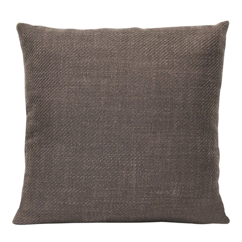 Stratton Home Decor Mocha Tweed 18 Inch Square Pillow