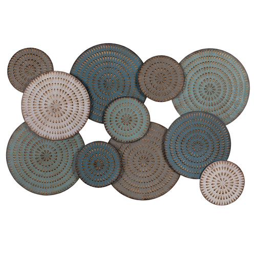 Stratton Home Decor Charleston Metal Disc Centerpiece Wall Decor