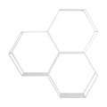 Stratton Home Decor 3 Tier White Hexagon Shelf
