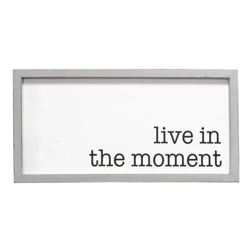 Stratton Home Decor Live in the Moment Framed Wall Art