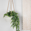 Stratton Home Decor Light Grey Hanging Planter