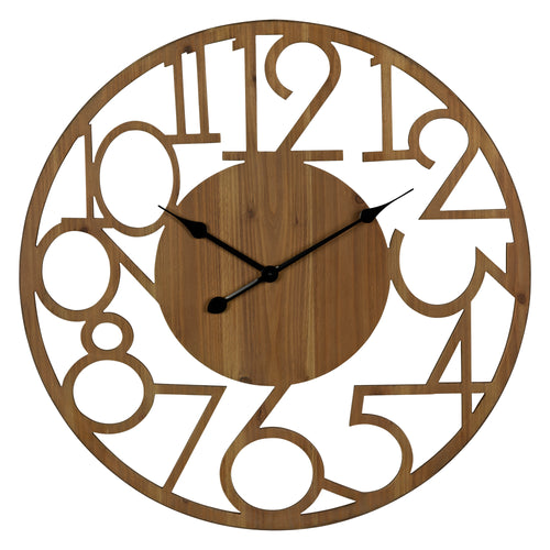 Stratton Home Decor Brady Natural Wood Wall Clock