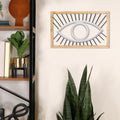 Stratton Home Decor Metal and Wood Eye Wall Decor