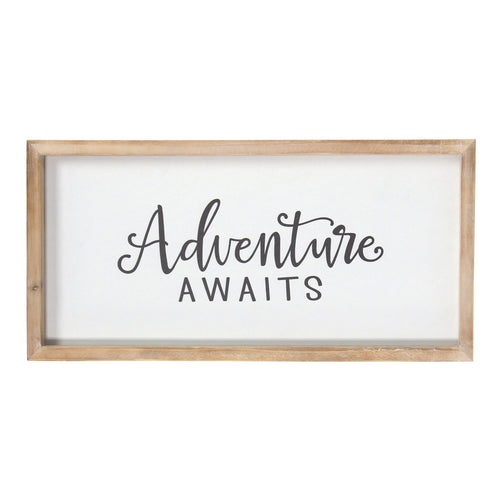 Stratton Home Decor Framed Adventure Awaits Wall Art