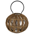 Stratton Home Decor Round Woven Bamboo Lantern