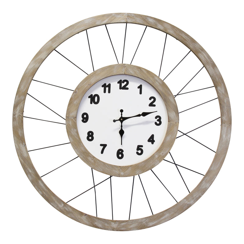Stratton Home Decor Harrison 28 Inch Wall Clock