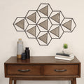 Stratton Home Decor Metal and Wood Triangle Abstract Centerpiece