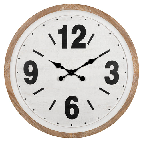 Stratton Home Decor Benjamin Wood Wall Clock