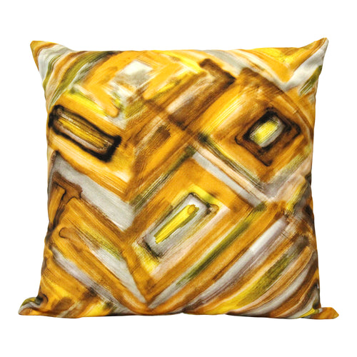 "Stratton Home Decor Safari Abstract 18"" Square Pillow"