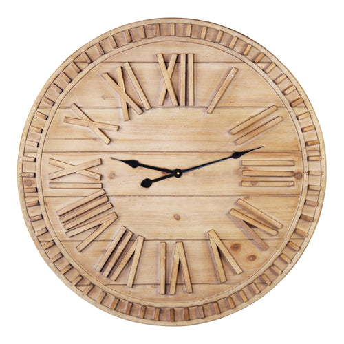 Stratton Home Decor 31.50 Inch James Wood Wall Clock