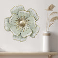Stratton Home Decor Layered Green Metal Flower Wall Decor