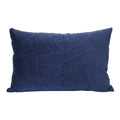 Stratton Home Decor Regal Blue Velvet Lumbar Pillow