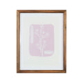 Stratton Home Decor Framed Pink Flower Leaf Wall Art with Glass
