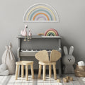 Stratton Home Decor Wood Rainbow Wall Decor