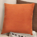 "Stratton Home Decor Burnt Orange Tweed 18"" Square Pillow"