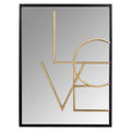 Stratton Home Decor Love Wall Mirror