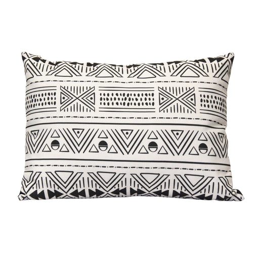 Stratton Home Decor Tribal Mudcloth Lumbar Pillow