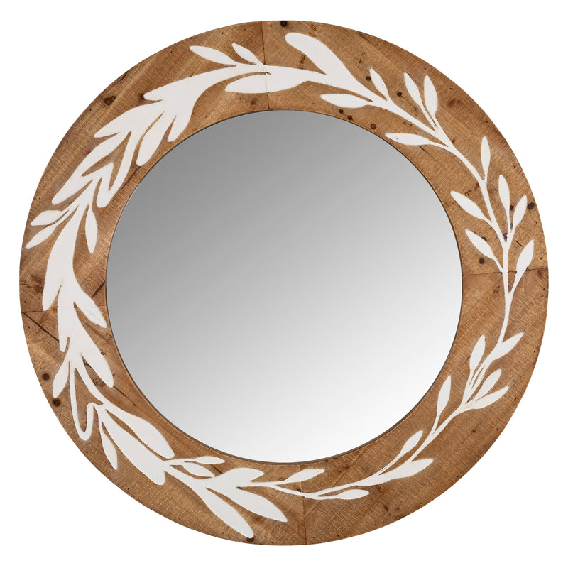 Stratton Home Decor Darcy Carved Wood Wall Mirror