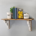 Stratton Home Decor Rustic Wood Shelf