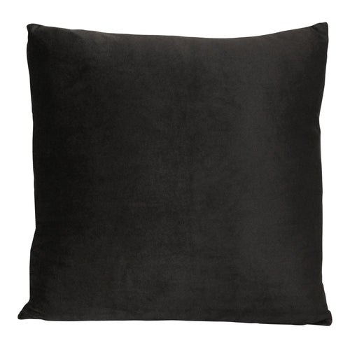 "Stratton Home Decor Black Velvet 18"" Square Pillow"