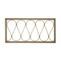 Stratton Home Decor Natural Wood and Metal Wall Panel