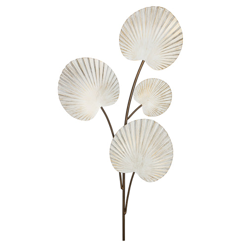 Stratton Home Decor Fanned Leaves Metal Wall Decor