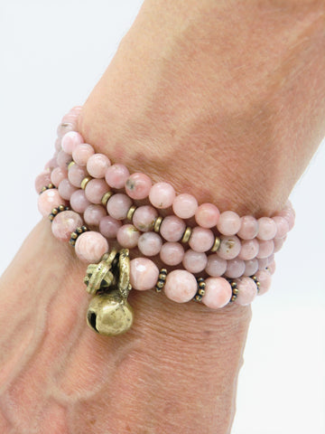 WM01 - Sunstone Wrist Wrap Mala