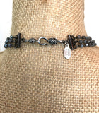 T07 - Handcrafted Spinel Tassel and Labradorite Necklace