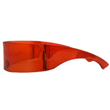 Unisex Mirror Visor Sunglasses One-Piece Lens Windproof Shield XET133