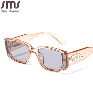 Retro Steampunk Sunglasses Fashion Small Frames Men Women Shades Rectangle Vintage Glasses Luxury