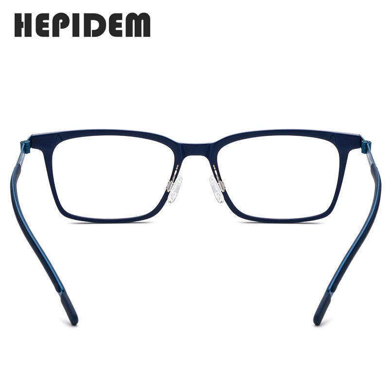 Acetate B Titanium Glasses Frame Women Ultralight Prescription Eyeglasses Men Myopia Optical Screwless Eyewear