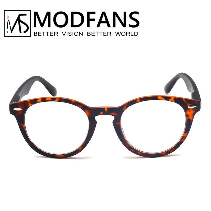 Unisex Reading Glasses Round Presbyopic Glass Leopard Retro Frame Eyeglasses Spring Hing Diopter +1 2 3 4