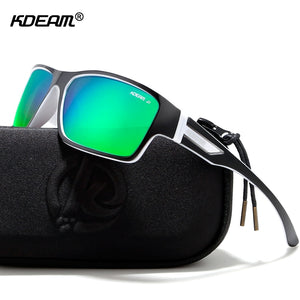 Kdeam Outdoor Polarized Sunglasses Uv400 Zipper Case Included Sports Kd510