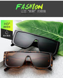 Oversized Shield Sunglasses For Women Luxury Brand Large Frame Ladies Shades Black Pink