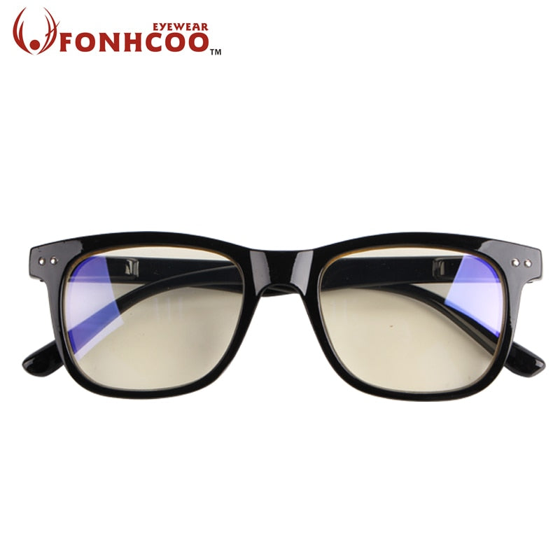 Fonhcoo Anti Blue Ray Radiation Blue Light Blocking Glasses Square Anti Eye Fatigue Computer Gaming