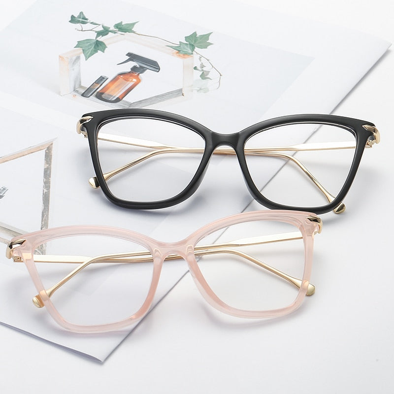 Women's Cateye Transparent Glasses Cat Eye Retro Lady Shades Clear J-BLF8011
