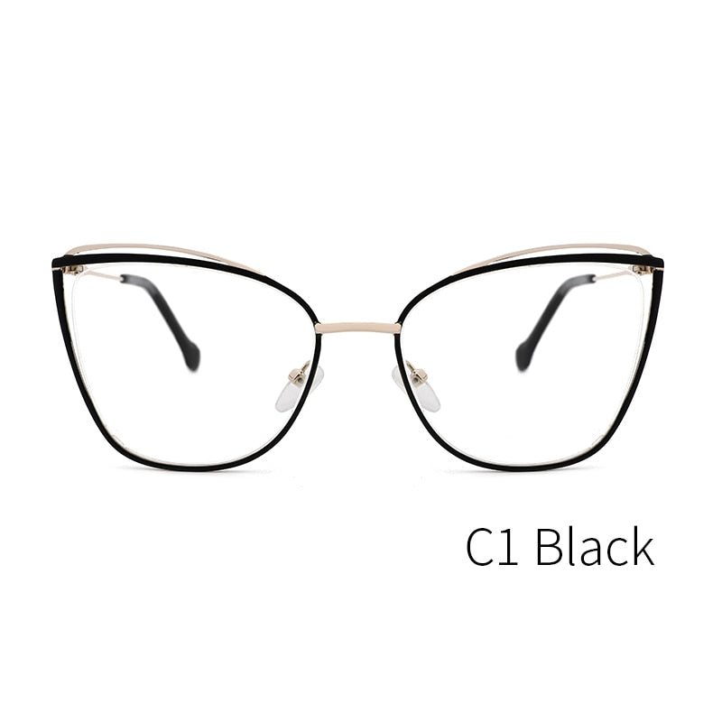 KANSEPT Metal Women's Glasses Frame Cat Eye Myopia Computer Eyeglasses Frame Eyewear High Quality MS3535